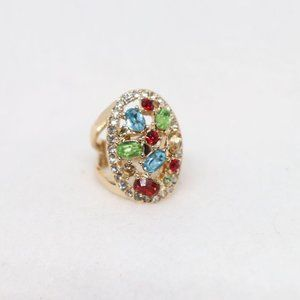 Avon Multi Color Statement Ring Size 6.5